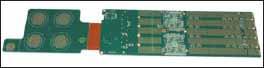 Гибко-жесткая многослойная печатная плата, монтируемая на двух стенках электронного блока