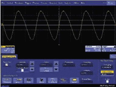 Рис. 4. Интерполяция sin x/x, частота дискретизации — 5 МГц, входной сигнал — меандр с частотой 1 МГц