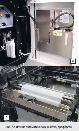 Система автоматической очистки трафарета