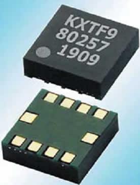Трехосевой МЭМС-акселерометр KXTF9 Kionix с функциональностью Directional Tap/Double-Tap