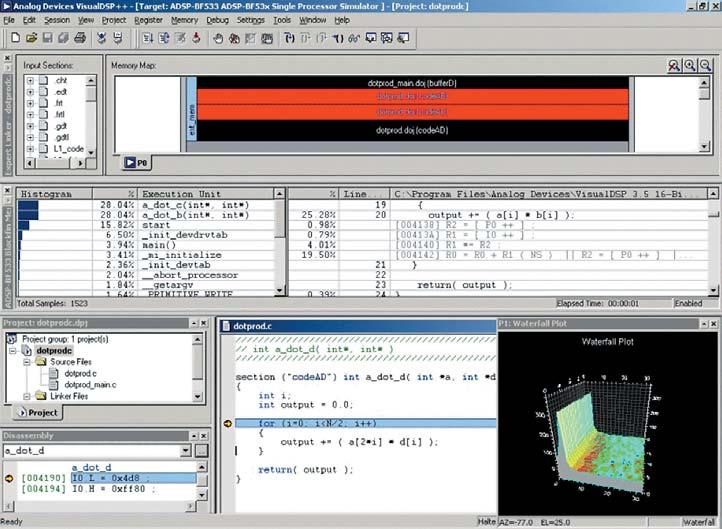 Рис. 2. Среда разработки VisualDSP++