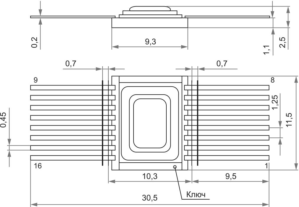 Металлокерамический корпус 402.16-23н