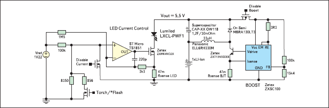Схема включения суперконденсатора в фотовспышке