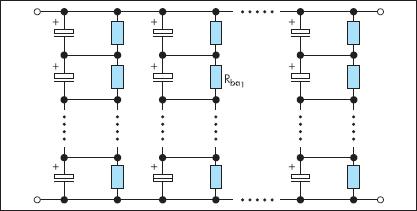 Уравнивание напряжений балластными резисторами