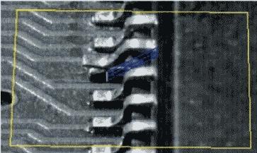 Рис. 1. Технологический дефект, связанный с нарушением компланарности выводов интегральной микросхемы