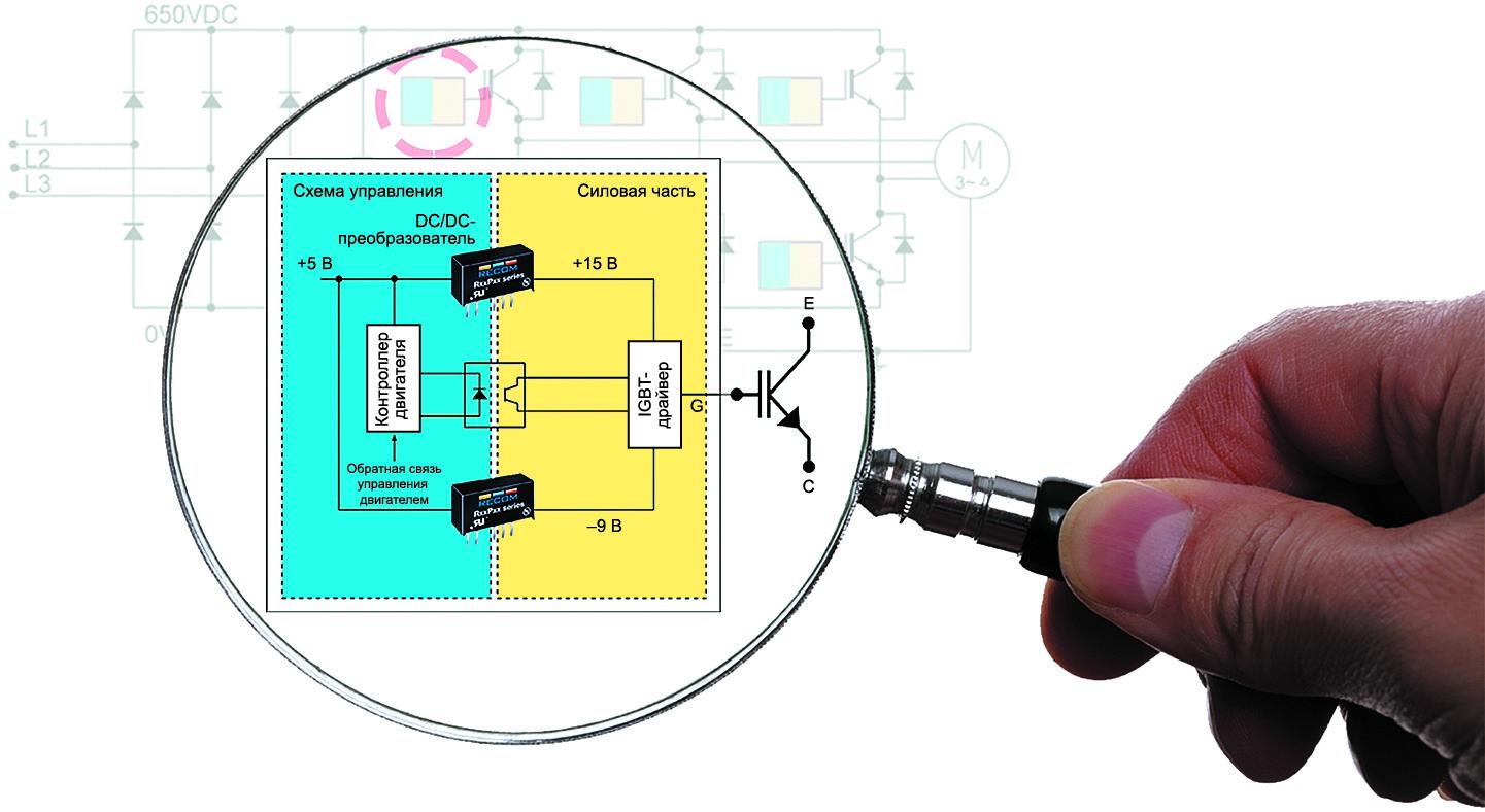 Упрощенная схема драйвера на основе IGBT-транзисторов
