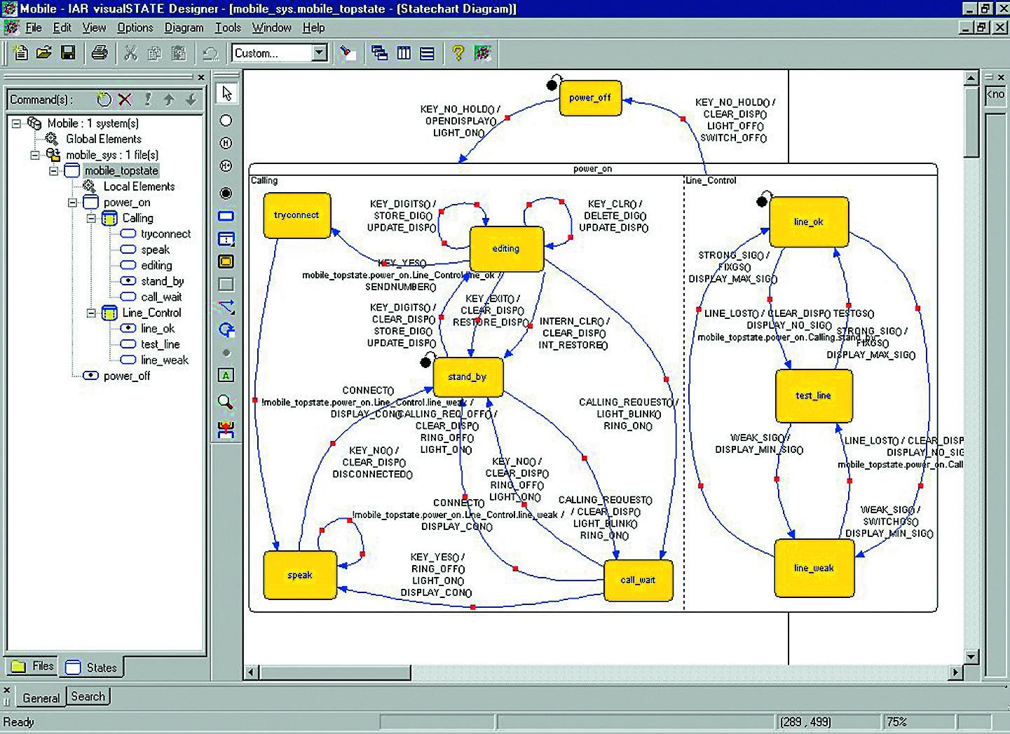 Вид программы VisualState