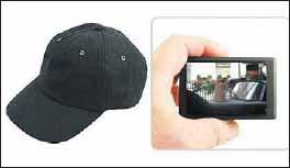 Видеокамера в бейсбольной кепке
