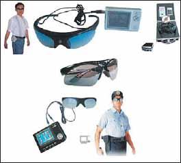 Видеокамера в солнцезащитных очках
