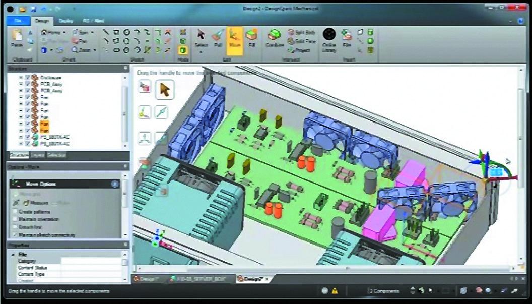 Трехмерная модель электронного устройства, реализованная в программе DesignSpark Mechanical [3]