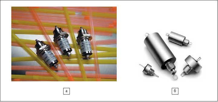 Рис. 9. Герметичные фильтры для больших напряжений и токов:  а) компании Oxley Developments; б) компании Syfer Technology