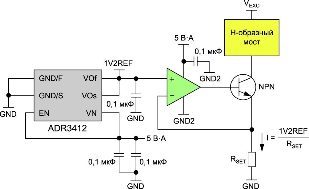 Источник втекающего тока с линейной стабилизацией
