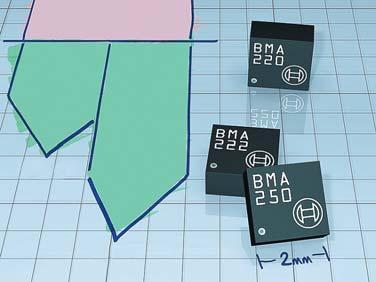 BMA222 и BMA250 — малые датчики Bosch с фут-принтом 2х2 мм в корпусе LGA  для потребительского сегмента