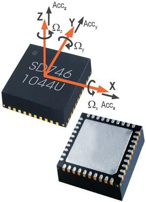SensorDynamics SD746 — комбидатчик  (угловой скорости и ускорения) с 6 степенями свободы
