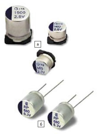 Внешний вид полимерных конденсаторов