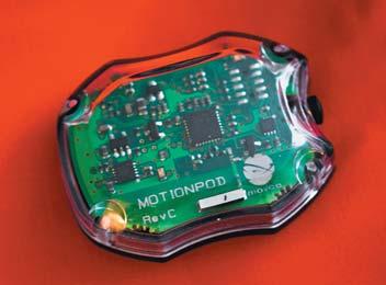 MotionPod — беспроводной миниатюрный 9-осевой блок инерциальных измерений от Movea с 3-осевым акселерометром,  3-осевым гироскопом и 3-осевым магнитометром в полностью интегрированном корпусе