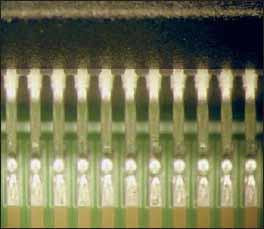 Пример качественных прямых соединений на микросхеме корпуса QFP100