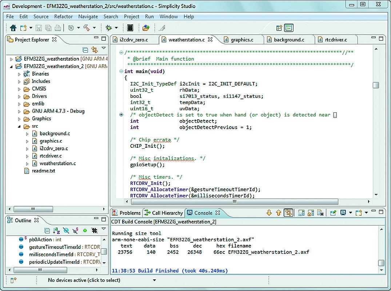 Интерфейс Simplicity IDE