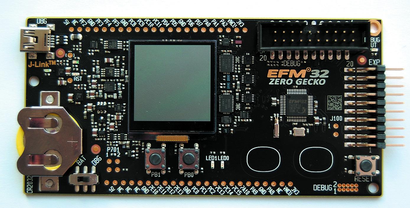 Фирменный отладочный комплект EFM32ZG-STK3200