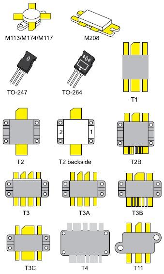 Корпуса VDMOS мощных полевых транзисторов фирмы Microsemi