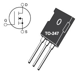 Мощный 120-Гц 90-Вт транзистор ARF449 в пластмассовом корпусе TO247