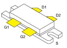Сдвоенный мощный радиочастотный полевой транзистор VRF141G (MRF141G)