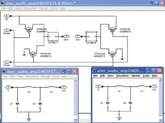 Субмодели ключей намощных MOSFET и LC-фильтрах