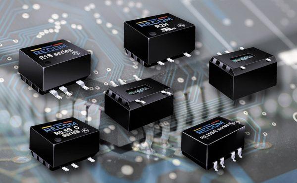 Модели преобразователей с входным напряжением 5 В, выходным напряжением и номинальной мощностью 1 Вт