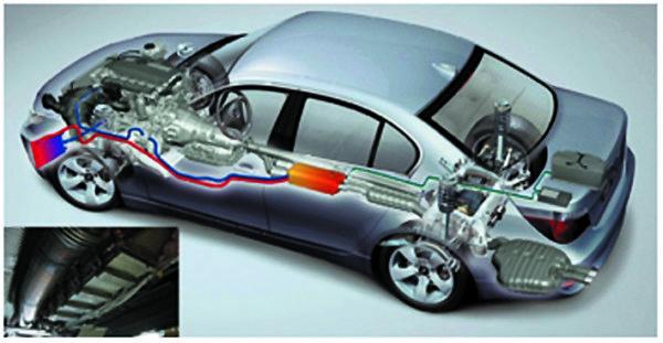 Термоэлектрический генератор под днищем BMW