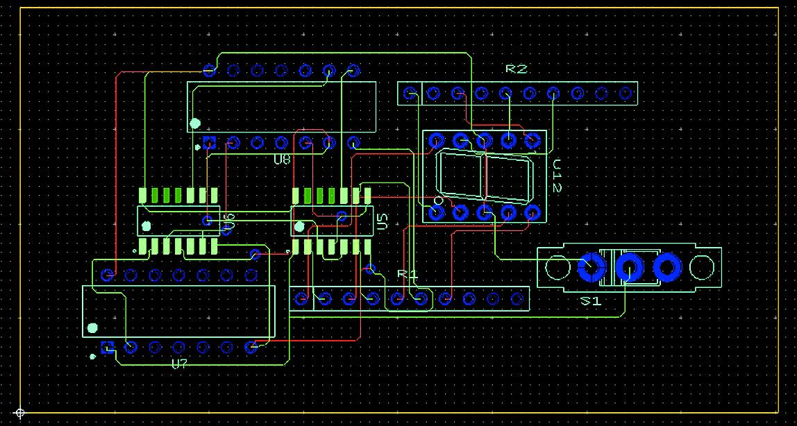 Результат автоматической трассировки проводников платы