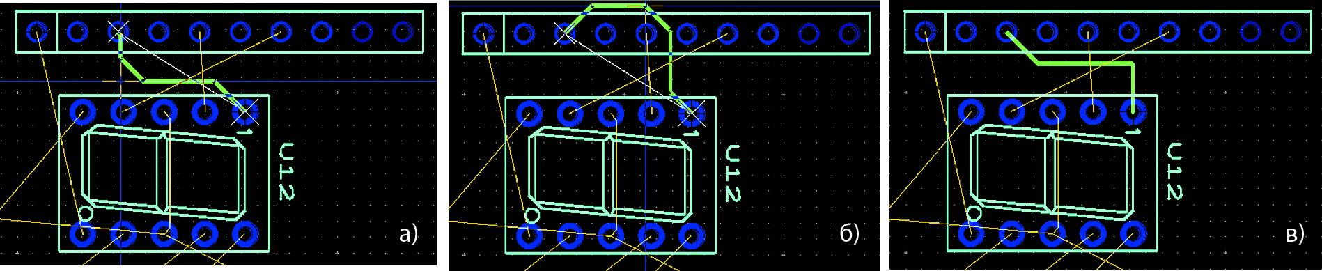 Предложенные системой варианты маршрута проводника в режиме «От точки до точки»