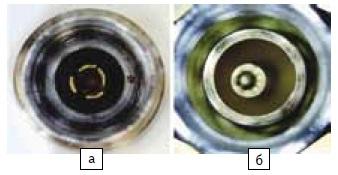 а) Поврежденные ламели б) смещение штыревого контакта