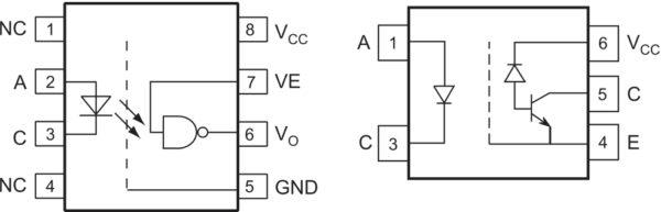 Примеры оптических схем высокоскоростных промышленных оптопар