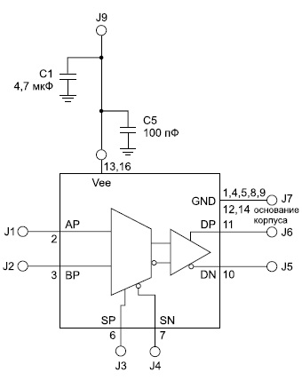 Схема подключения микросхемы HMC678LC3C