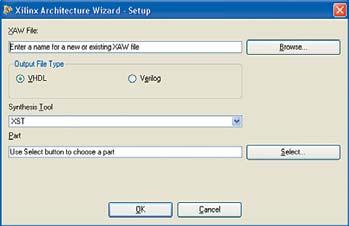 Рис. 4. Вид стартовой диалоговой панели 'мастера' Architecture Wizard
