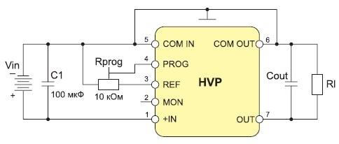 Схема подключения модуля серии HVP
