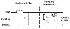 Рис. 10. Демпфирующая RC3цепь может снять проблемы, вызванные резонансом фильтра