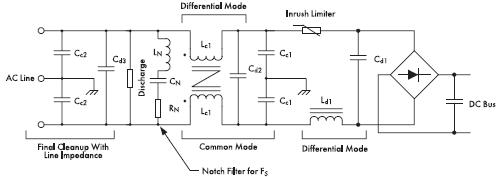 Рис. 16. На этой схеме показаны компоненты фильтра, необходимые для уменьшения шумов