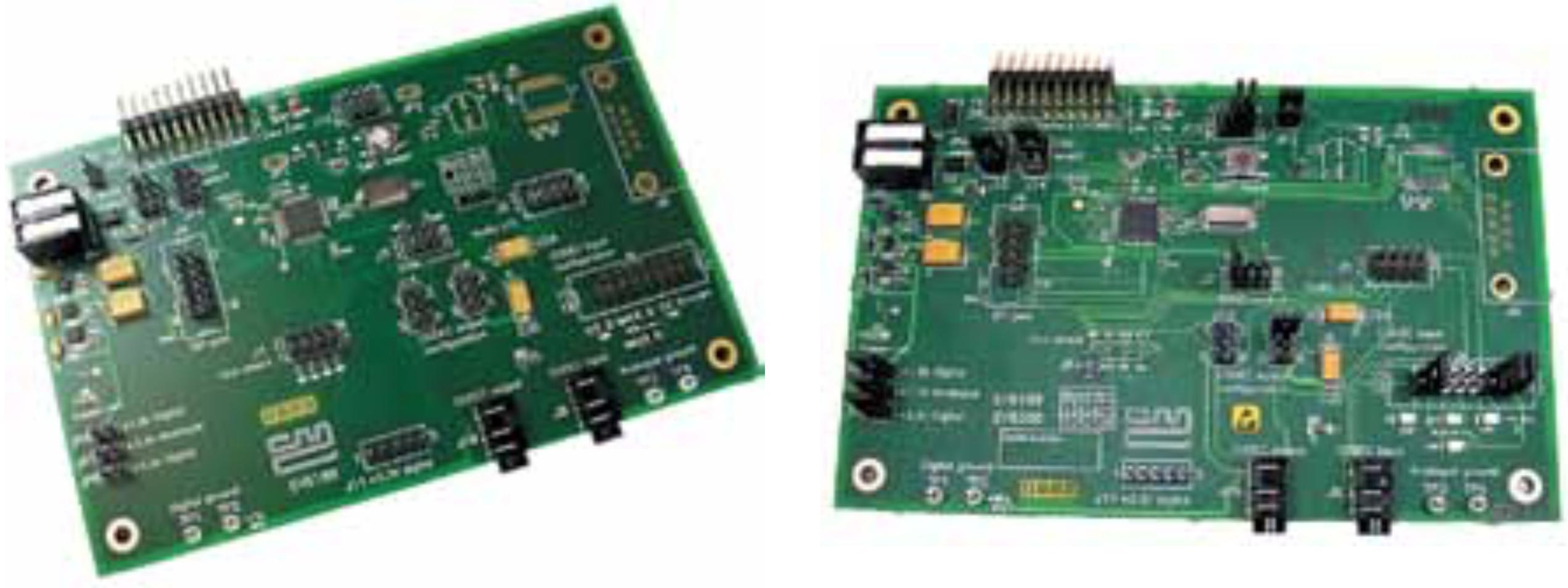 Внешний вид базовой платы оценочных наборов EV6180 и EV6380 Wireless RALCWI Vocoder Evaluation Kit