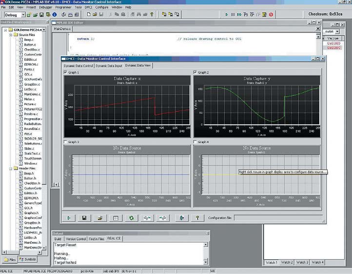 Рис. 4. Интерфейс мониторинга и управления данными (DMCI)