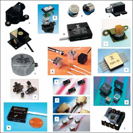 Спектр современных автомобильных акселерометров различного функционального назначения