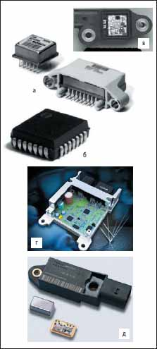 Акселерометры в системах пассивной безопасности для фронтальной защиты пассажиров