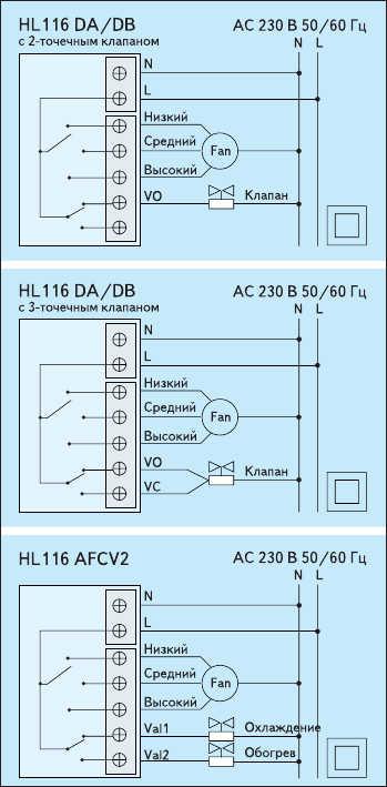 Рис. 4. Схема подключения термостата HL116
