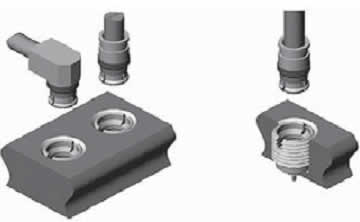 Соединение «вилок» с прямыми и угловыми кабельными соединителями SMP [5]