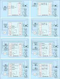 Рис. 7. Схемы подключения термостатов HL8102