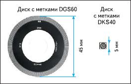 Сравнение дисков с метками стандартного и минидискового энкодеров