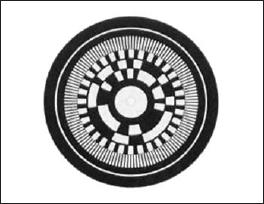 Кодовый диск энкодера DKS40 (увеличенный вид)