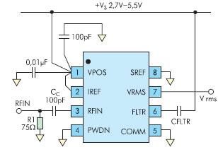 Типовая схема включения AD8361