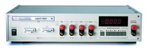 Внешний вид токового шунта АКИП 7501
