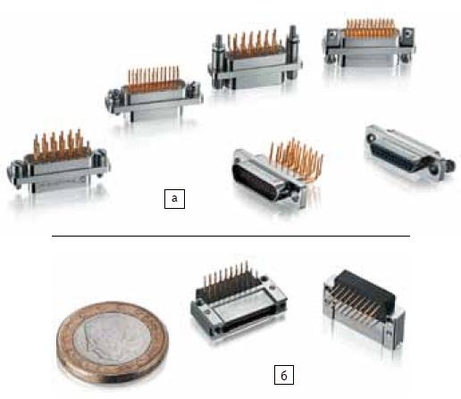 Разъемы: а) Micro-D; б) Nano-D